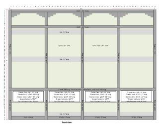 Mudroom Locker - plan from front
