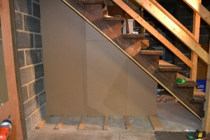 Staircase storage - wall front