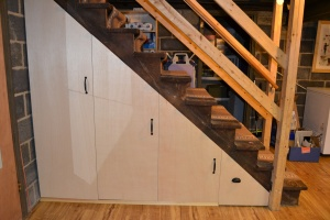 Staircase storage - after