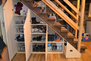 Staircase storage - after - inside