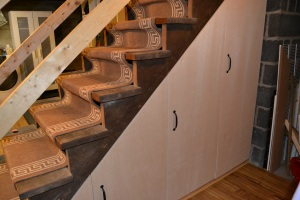 Staircase storage - after - back