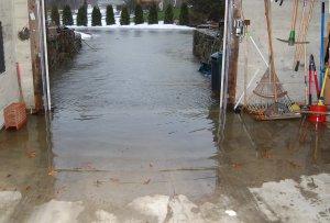 Garage under water