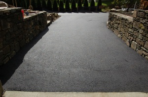 Garage asphalt