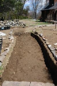 Front walk - digging
